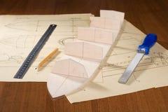 De modelbouw van de schipschaal Stock Foto's