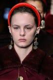 De modellen lopen het baanfinale bij de modeshow van Altuzarra Februari 2017 Royalty-vrije Stock Afbeeldingen