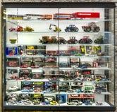 De modellen van de winkelschaal van auto's Stock Foto