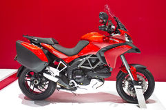 2013 de Modellen van Ducati Multistrada. Stock Fotografie