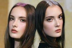 De modellen worden gezien voor Aigner tonen tijdens Milan Fashion Week Spring /Summer 2018 Royalty-vrije Stock Foto's