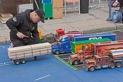 De modellering van de vrachtwagen Royalty-vrije Stock Afbeeldingen
