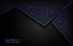 De moderne abstracte achtergrond met dageraad schittert deeltje vector illustratie