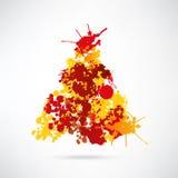 De moderne abstracte achtergrond van de Kerstmisboom stock illustratie