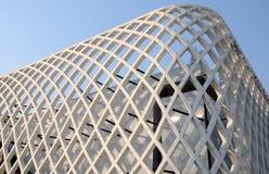 De moderne abstracte architectuurbouw Royalty-vrije Stock Afbeeldingen