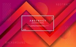 De moderne abstracte 3d achtergrond van de driehoeksgradi?nt vector illustratie
