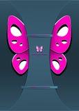 De moderne Achtergrond met verfraait vlinder Royalty-vrije Stock Foto