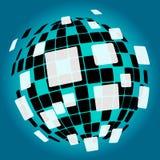 De moderne Achtergrond van de Discobal betekent Nachtleven of royalty-vrije illustratie