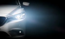 De moderne achtergrond van de het close-upbanner van de luxeauto Royalty-vrije Stock Afbeeldingen