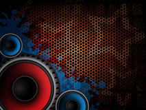 De moderne achtergrond van de muziek Stock Foto