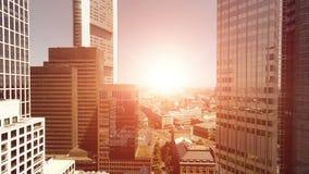 De moderne achtergrond van de stadsarchitectuur stock videobeelden