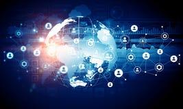 De moderne achtergrond van verbindingstechnologieën Royalty-vrije Stock Afbeelding