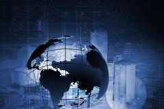 De moderne achtergrond van verbindingstechnologieën Gemengde media Royalty-vrije Stock Afbeelding