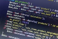 De moderne achtergrond van de Webontwikkeling Abstracte stukken van PHP code royalty-vrije illustratie