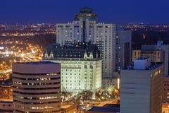 De moderne architectuur van Winnipeg stock afbeelding