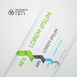 De moderne banner van de stijlopties van de bedrijfsstaporigami Stock Foto