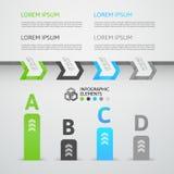 De moderne banner van de stijlopties van de bedrijfsstaporigami Royalty-vrije Stock Afbeeldingen