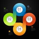 De moderne banner van de stijlopties van de zakenkrings volledige kleur Stock Afbeeldingen