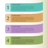 De moderne banner van infographicsopties Royalty-vrije Stock Afbeelding