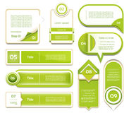 De moderne banner van infographicsopties. Vector illustr Royalty-vrije Stock Foto's