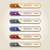 De moderne banner van infographicsopties Vector illustratie Royalty-vrije Stock Foto's