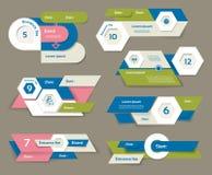 De moderne banner van infographicsopties Vector illustratie kan voor werkschemalay-out, diagram, aantalopties, Webontwerp, pri wo Stock Afbeeldingen