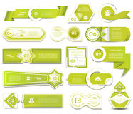 De moderne banner van infographicsopties Vector illustratie kan voor werkschemalay-out, diagram, aantalopties, Webontwerp, pri wo Stock Foto's