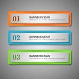 De moderne banner van infographicsopties Vector illustratie Kan zijn Royalty-vrije Stock Fotografie