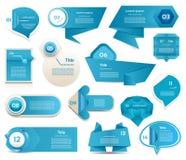 De moderne banner van infographicsopties. Vectorillustratie Stock Foto's