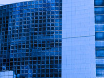 De Moderne blauwe gebouwen van Parijs Frankrijk Stock Foto