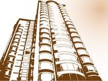 De moderne bouw in China Stock Illustratie