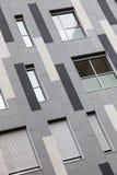 De moderne bouw Externe voorgevel van een modern gebouw Barcelona (Spanje) Royalty-vrije Stock Fotografie