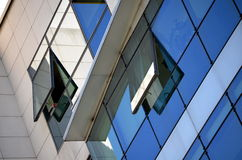De moderne bouw in glas Stock Afbeelding