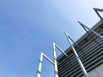De moderne bouw in de grote stad royalty-vrije stock afbeeldingen
