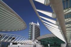 De moderne bouw, handelscentrum, in Lissabon Stock Afbeeldingen