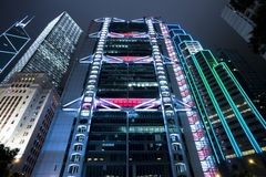 De moderne bouw in Hong Kong Stock Fotografie