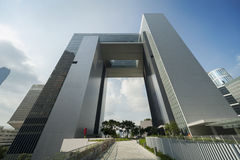 De moderne bouw in Hongkong Stock Afbeelding