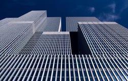 De moderne bouw in Rotterdam, Rem Koolhaas-bureautorens Stock Afbeeldingen