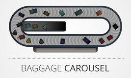 De moderne bouw van de bagagecarrousel Royalty-vrije Stock Afbeelding