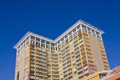 De moderne Bouw van het Flatgebouw met koopflats Royalty-vrije Stock Foto's