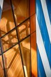 De moderne Bouw van het Glas in Samenvatting Royalty-vrije Stock Fotografie