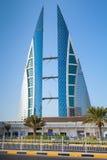De moderne bouw van het World Trade Center van Bahrein, Manama Royalty-vrije Stock Afbeeldingen