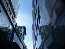 De moderne bouw in Warshau Royalty-vrije Stock Afbeeldingen