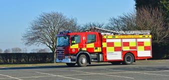 De Moderne Brand die van Scania englne op tarmac worden gedreven royalty-vrije stock foto
