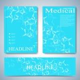 De moderne brochure, het tijdschrift, de vlieger, het boekje, de dekking of het rapport van de malplaatjelay-out in A4 grootte vo Stock Afbeeldingen