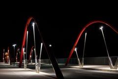 De moderne Brug van de Weg bij Nacht Royalty-vrije Stock Fotografie