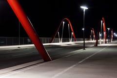 De moderne Brug van de Weg bij Nacht Royalty-vrije Stock Afbeelding