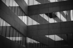De moderne bureaubouw Stock Foto