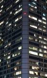 De moderne bureaubouw bij nacht Royalty-vrije Stock Foto