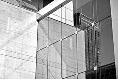 De moderne bureaubouw met voorgevel van glas Rebecca 36 Stock Afbeelding